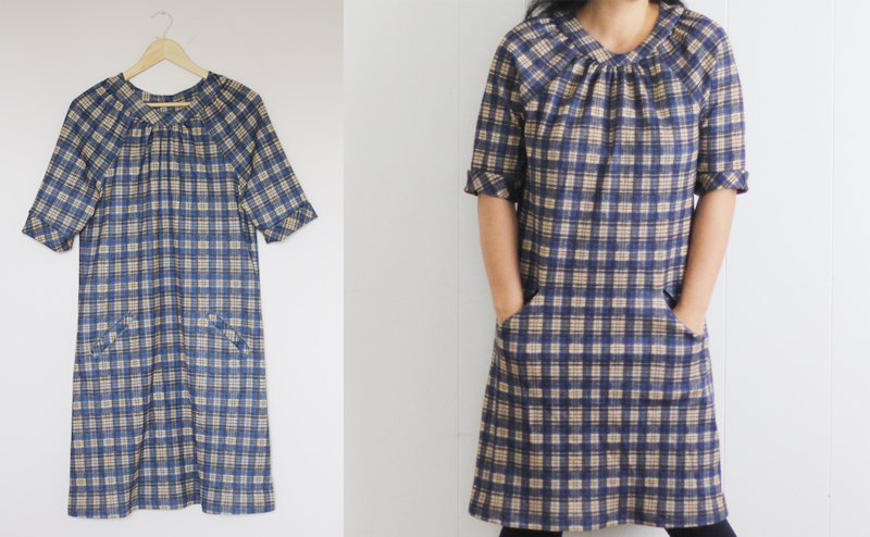 Sewing for Me: Navy Plaid Simplicity 3835 – Sanae Ishida