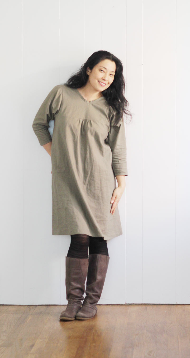 simple-style-dress-khaki2