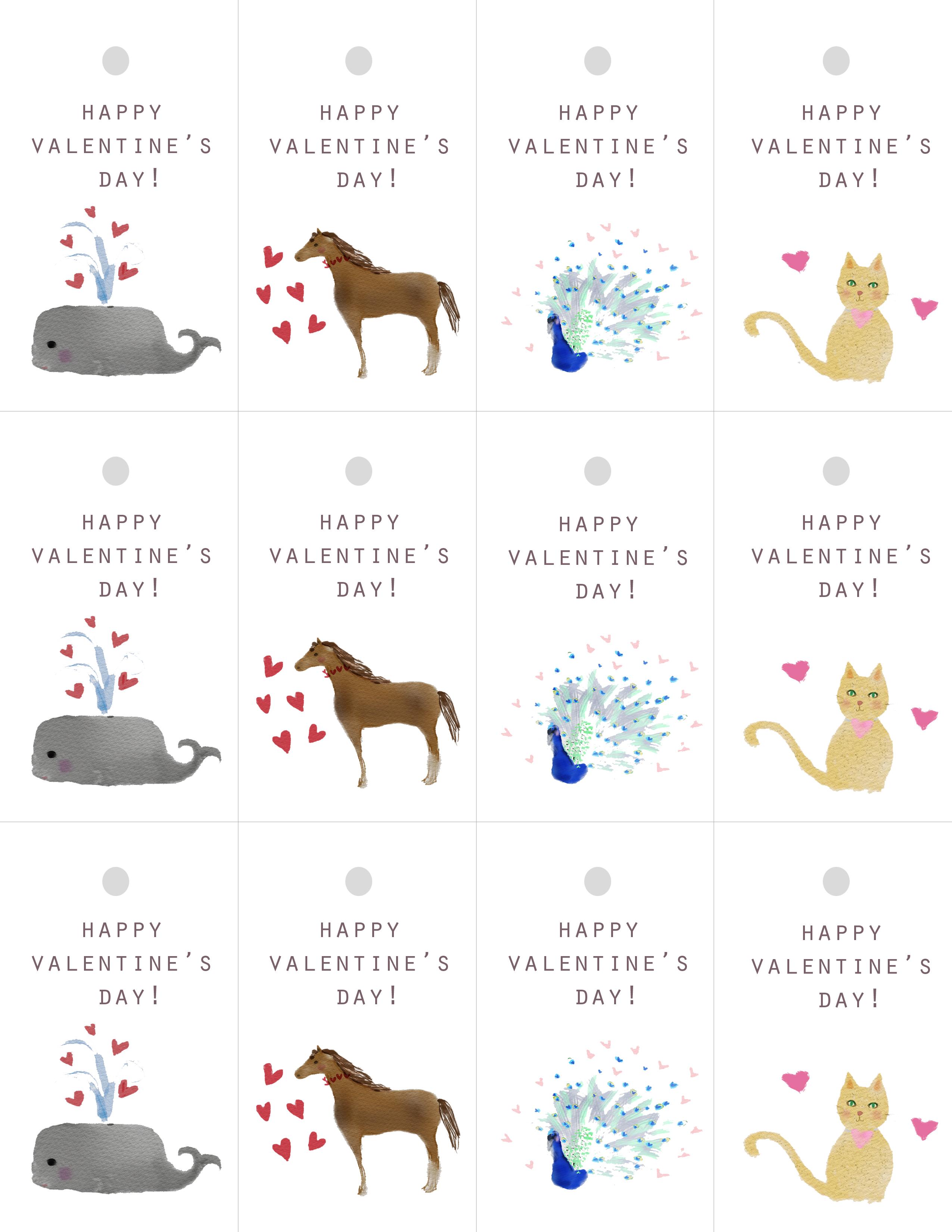 Free Printable Cat Valentine