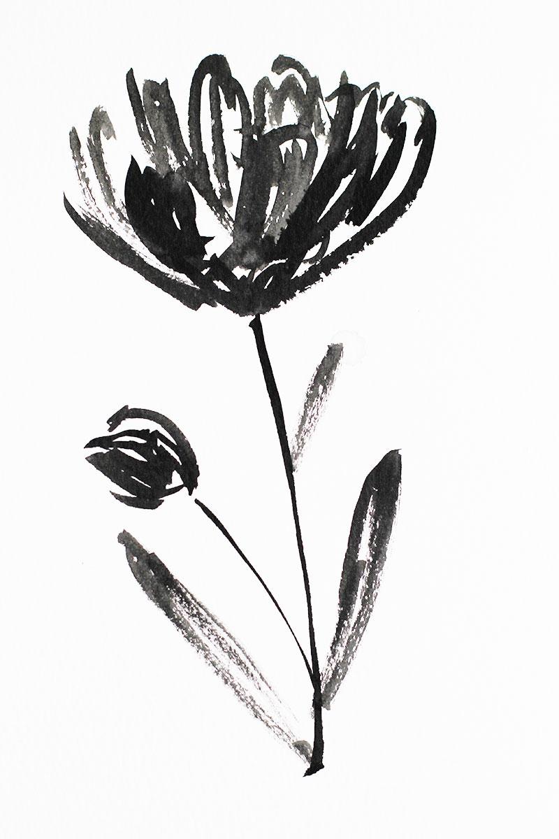 greyscale-flower
